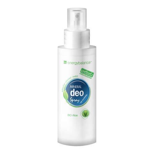 EnergyBalance Deodorante | Spray | Aloe Vera Biologica | Senza alcool | Senza alluminio cloridrato | Testato su animali | Senza vegetali | Senza coloranti | Unisex | 100ml