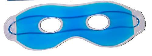 Maschera per gli occhi con gel refrigerante blu; occhiali per dormire, per rilassarsi, per il benessere, per spa, per combattere occhi gonfi e occhiaie, insonnia, emicrania e mal di testa