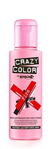 Crazy Color Crema Colorante Vegetale per Capelli , Fire - 100 ml