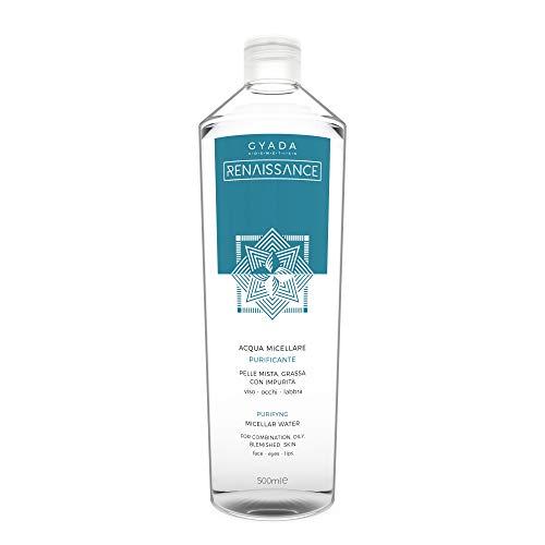 Gyada Cosmetics Acqua Micellare Purificante ● Maxi Formato 500 ml ● Certificata Bio ● Made in Italy