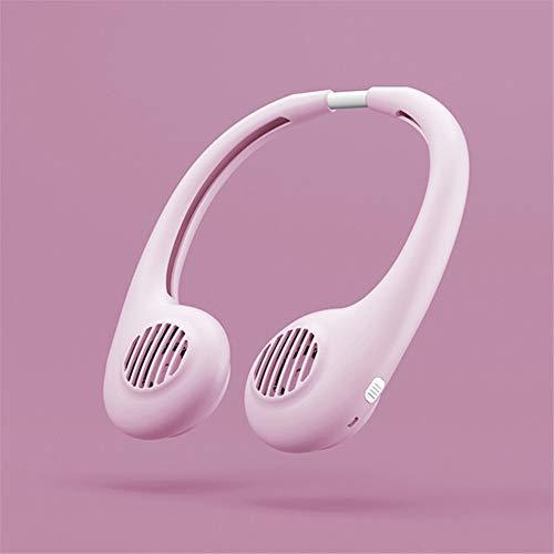Hqm Portable Foglie Fan, Ventilatore sfrondato Hands-Free Personal Foglie Ventilatore Mini USB con Collo Sospensione Design Ricaricabile, utilizzato per i Viaggi, Ufficio,3