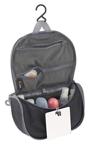 Sea to Summit–hanging Toiletry Bag Small, colore: Black/Grey