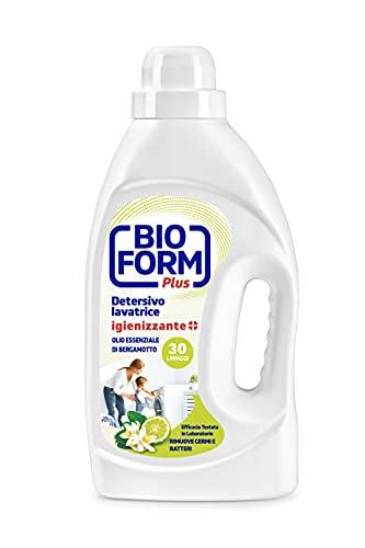 Bioform Plus Detersivo Lavatrice Igienizzante'Olio Essenziale Al Bergamotto' 30 Lavaggi - 1625 ml
