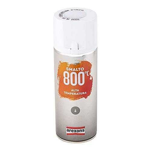 AREXONS SMALTO 100% ACRILICO ALTA TEMPERATURA (fino a 800 °C) Smalto spray Bianco 400 ml vernice spray universale smalto acrilico resine di alta qualità essiccazione rapida bomboletta spray