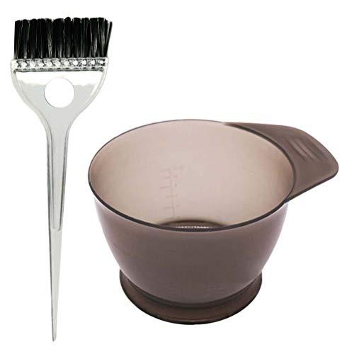 Artibetter 2pcs professionale salone di colorazione dei capelli tintura kit tintura pennello ciotola strumento tint