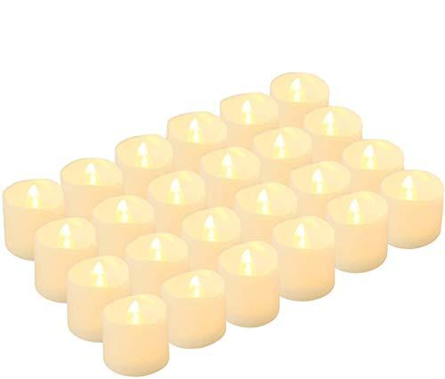 Kohree 24x Candele LED Senza Fiamma Batteria luminosità regolabile LED lampeggiante Candele interno esterni all'aperto Decorazione Casa Camera Natale Party Partito Matrimonio