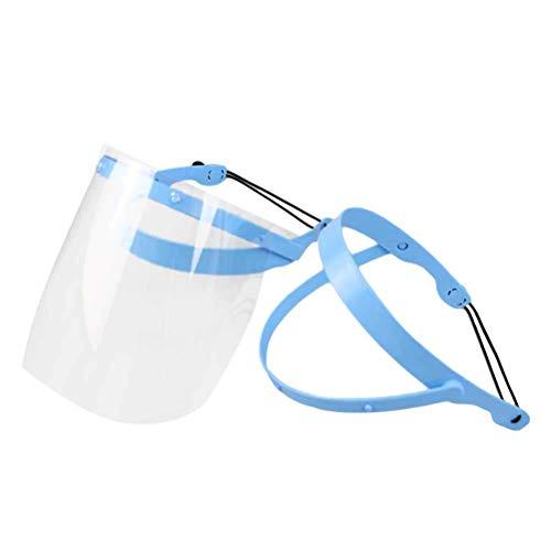 Healifty - Montatura protettiva anti-appannamento staccabile per l'intero viso con 10 pellicole protettive in plastica, per la casa e la clinica dentale