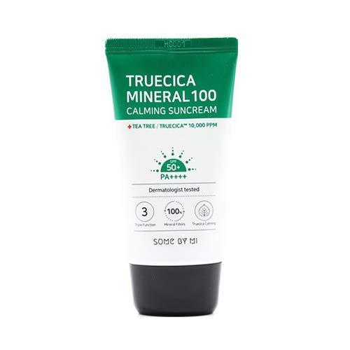 Somebymi Truecica Mineral 100 Crema Solare Calmante SPF50+ PA++++ (50ml) BTOB Crema Solare Mild Sun Block True Cica, Somebymi