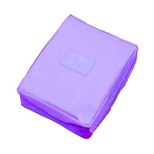 Ducomi® Travel Season Beauty Case - Borsa da Viaggio - Organizzatore Viaggio Unisex - Misura: 22 x 17 x 8 cm (Purple)