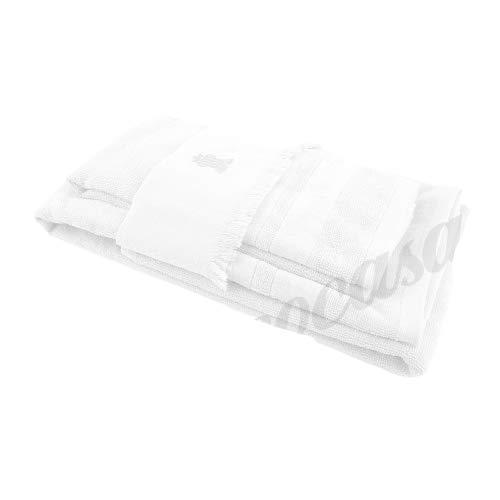 PHP Set 2 Ospiti e 1 Asciugamano, Articolo Joy in Spugna di Cotone idrofilo 490 gr.