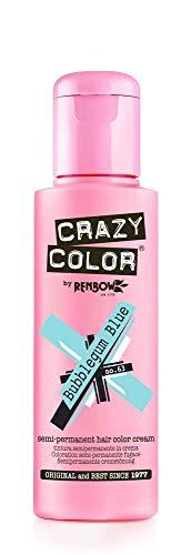 Crazy colore Bubblegum Blue 63 colorazione Semipermanente - 100 ml