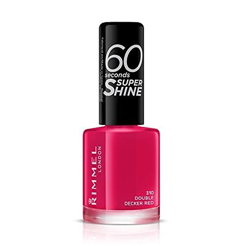 Rimmel London 60 Seconds Super Shine #310-Double Decker Red - 8 Ml