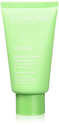 Clarins SOS Pure Rebalancing Maschera con Argilla per Pelli Miste e Grasse, 75 ml