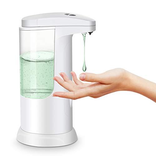 MECO Dispenser Sapone Liquido Automatico Dispenser Gel Disinfettante Mani 3 Regolabile Volume Distributore Sapone Dosatore Sapone Portasapone Sensore Infrarossi Impermeabile Bagno Cucine Ufficio