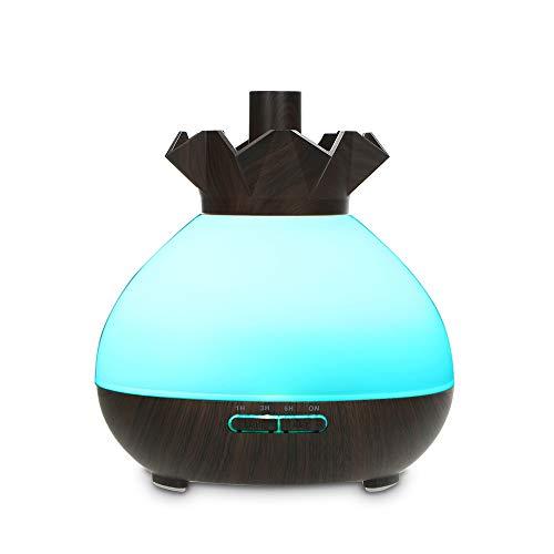 OWSOO Wi-Fi Aromatherapy Mist Diffuser Umidificatore, 400 ml Vaporizzatore Diffusore di Oli Essenziali,Luci Notturne 7 Colori LED,Controllo vocale,Compatibile con Alexa e Google Home