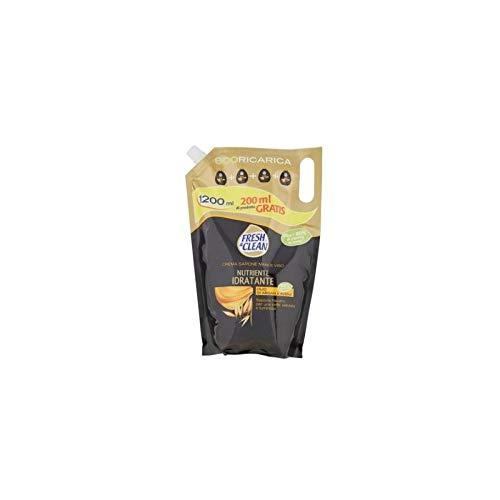 Fresh & Clean Ecoricarica Sapone Mani e Viso Nutriente ed Idratante con Olio di Argan e Avena - 900 g