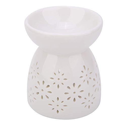 HERCHR Ceramica Bruciatore Lampada Candela Incenso Aromaterapia Bruciatore Oli Essenziali Diffusore di Oli Essenziali per Scaldacera Lampada Profumata