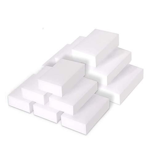 KATELUO 24x Spugne Magiche - -spugne per pulitura muro Bianche per Pulire, Cancellare, Togliere Le Macchie (Bianco, 24 paia)
