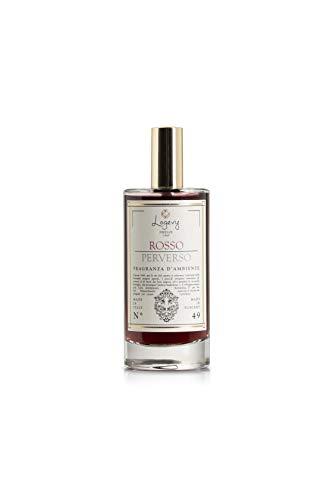 LOGEVY - Profumatore per Ambienti Eco-Spray 100 ml per Il Benessere della Persona e della Casa - Rosso Perverso