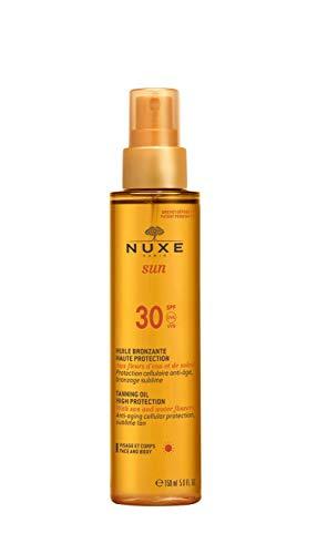 Nuxe Olio Abbronzante Viso e Corpo SPF 30, 150 ml