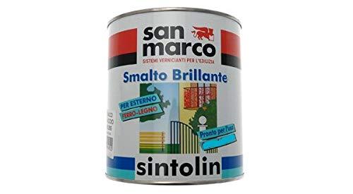 SINTOLIN SMALTO VERNICE BRILLANTE SINTETICO UNIVERSALE PER ESTERNO/INTERNO CUOIO 375ML