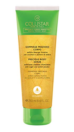 Collistar Gommage Prezioso Corpo | Gommage delicato esfoliante e detergente | Con oli vegetali, zucchero e polvere di ambra | Lascia la pelle liscia e luminosa | Per tutti i tipi di pelle | 250 ml