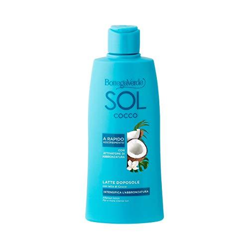 Bottega Verde, SOL Cocco - Latte doposole - intensifica l'abbronzatura - con latte di Cocco e attivatore dell'abbronzatura (200 ml), a rapido assorbimento