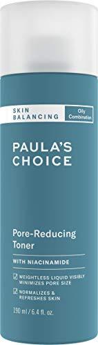 Paula's Choice Skin Balancing Tonico Viso per Pori Dilatati - Combatte i Brufoli, i Punti Neri e i Sebo - con Niacinamide - Pelli Miste o Grasse -190 ml