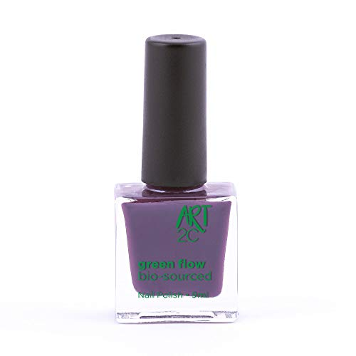 Art 2C, smalto per unghie vegan e bio 85% brevettato, ultra-puro, 24 colori, 9 ml, colore: Grape 01