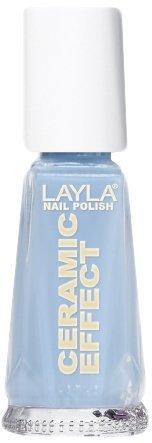 Smalto Layla Ceramic Effect N.18 Italian Blue Sky Nail Polish by LAYLA COSMETICS