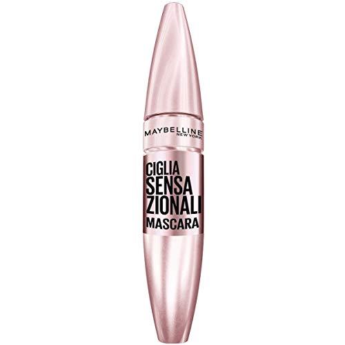 Maybelline New York Mascara Ciglia Sensazionali, Volumizzante, Effetto Ventaglio sulle Ciglia, Very Black, 9.5 ml