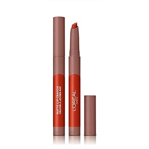 L'Oréal Paris Infallible Very Matte Lip Crayon, Rossetto Effetto Opaco, Colore Mon Cinnamon (106)