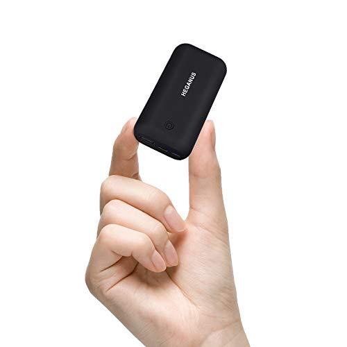 Hegenus Mini Power Bank 10000mAh Leggero, Caricatore Portatile Type-C Veloce (2.4A Totale) con 1 Uscite e 2 Ingressi di Tipi Compatibile Universale con Tutti i Telefoni