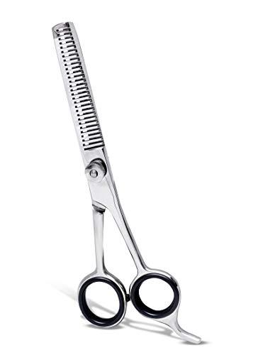 Forbici per diradamento dei capelli, 6,5 cm, cesoie da barbiere per parrucchieri, taglio testurizzazione e styling - acciaio inossidabile