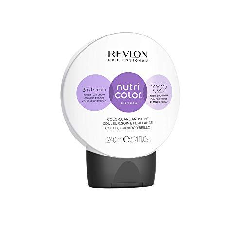 REVLON PROFESSIONAL Nutri Color Filters Maschera Colorata Capelli, Protettiva, Istantanea e Multidimensionale, Platino Intenso - 240 ml