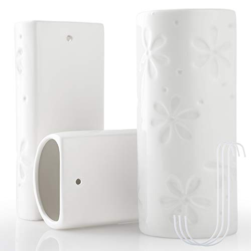 3pz Umidificatore per Radiatore GeeRic Umidificatore di Termosifone in Ceramica+3 Gancio Evaporatore per Radiatore 400ML Umidificatore di Oli Essenziali per Casa Ufficio Camera Fiore 5.4*10*19.5CM