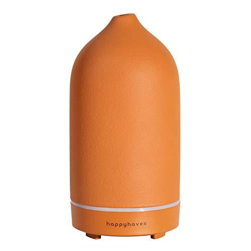 Diffusore di aromi in ceramica di alta qualità: Umidificatore silenzioso per oli essenziali - Lampada per aromaterapia con luce LED come deodorante per la casa - Diffusore di profumo Happy Haves
