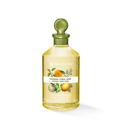 Yves Rocher LES PLAISIRS NATURE Olio per corpo e massaggi vegetali Mandarino, limone e cedro, 1 flacone da 150 ml