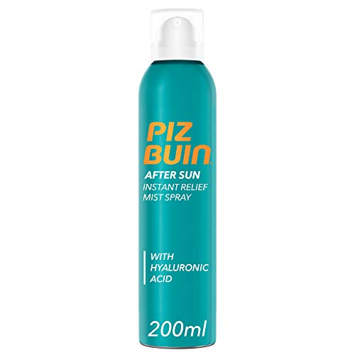 Piz Buin, Spray Doposole Sollievo Immediato, After Sun, Assorbimento Rapido, Rinfresca e Lenisce, 200ml