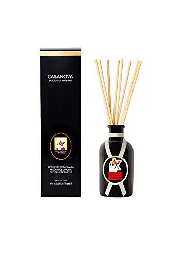 CASANOVA Diffusore Profumato per Ambiente Contiene Bastoncini di Bambù e un flacone d'Essenza Aromatica d'Eritrea, Profumo per la Casa Duraturo 500 ML