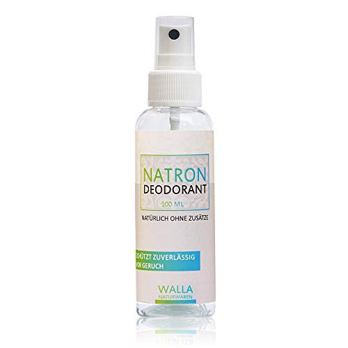 erd Deodorante Natron al bicarbonato di sodio da 100 ml, con pH basico di 8.0, protezione 100% naturale per 24 ore, unisex, anche per persone allergiche e sensibili
