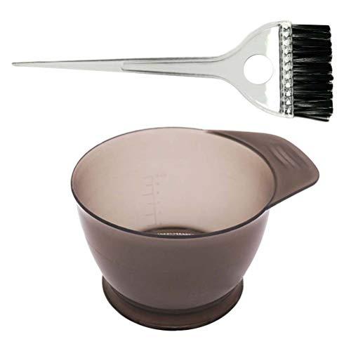 Healifty Kit di tintura per capelli colorante professionale Kit di tintura per capelli Kit per olio per capelli Strumenti con tintometro per scovolini e tinte 2pz