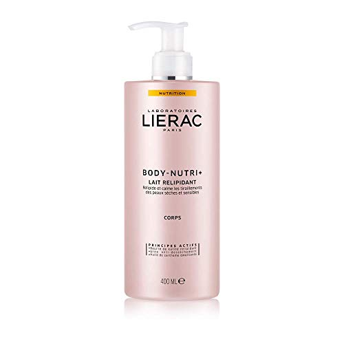 Lierac Body Nutri+ Latte Relipidante Nutriente Corpo con Burro di Karité, per la Pelle Secca e Sensibile, Formato da 400 ml