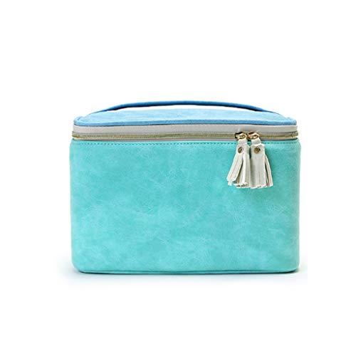 Kiki Cosmetic Bag Caso Le Donne Impermeabile Sacchetto di Trucco ad Alta capacità dell'organizzatore di Corsa toeletta Pouch Multifunzione Beauty Case (Color : Green, Dimensione : S)