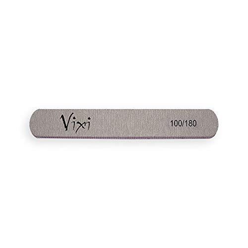 Lime professionali per le unghie By Vixi; grana 100/180, a doppio lato (misura: 8x2cm) per manicure, pedicure, per unghie naturali, finte e in acrilico 1 x Lima