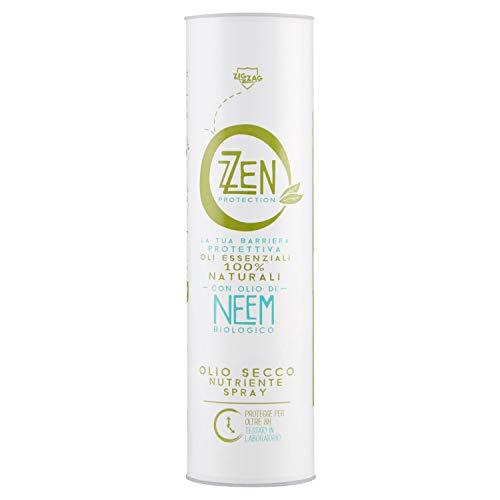 ZZEN PROTECTION Olio Secco Protettivo Spray con Oli Essenziali Blend, Neem Biologico, Marula e vitamina E, Repellente Anti zanzare, 75 ml