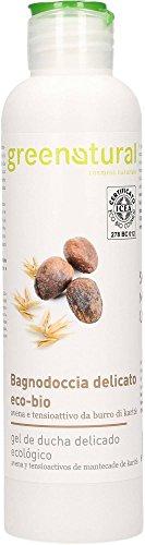 GREENATURAL - Bagnodoccia Avena & Burro di Karité - Ecobio - Dermatologicamente testato - Epidermide morbida e setosa - Idratante e nutriente – 250 ml