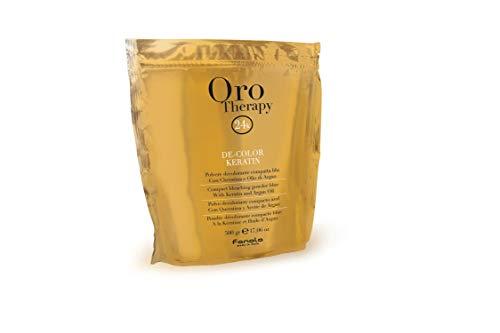 Fanola, Oro Therapy, De-Color Keratin, Polvere decolorante blu, con cheratina e olio di Argan, polvere decolorante