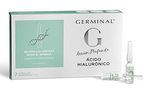 Germinal Azione Profonda Acido Ialuronico -Siero in Fiale per Viso con Acido Ialuronico Concentrato Effetto Idratante, Antirughe e Antietà per Uomo e Donna - 7 Fiale x 1 ml