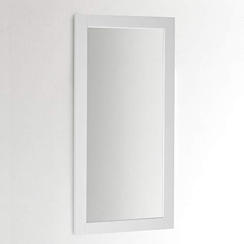 ARHome Specchiera Parete 120 x 60, Grigio Chiaro, Specchio Parete Muro, Made in Italy
